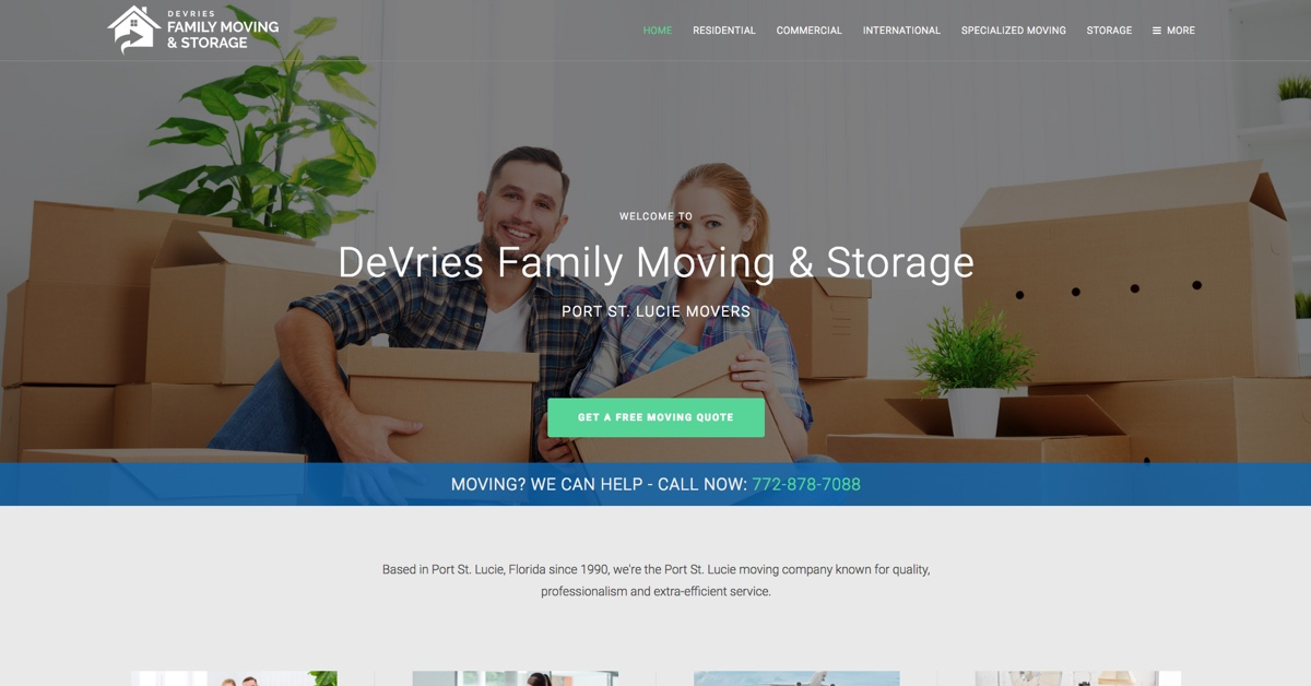 Port St. Lucie Movers Provided By DeVries Family Moving U0026 Storage
